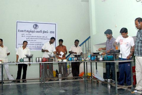 Cooking Competition for Men on Womens Day Salem PDI